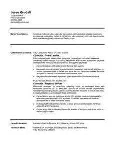 Collections Representative Sle Resume by Objective Seeking Position As Collections Representative