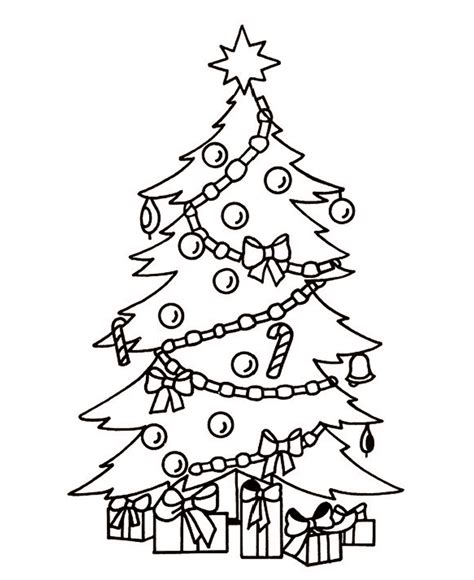 christmas picture outline tree outline clip coloring home