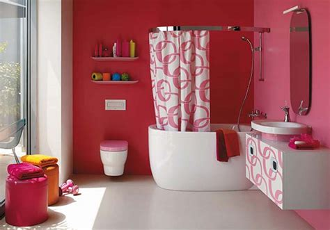 Decorating Ideas For A Pink Bathroom Bathroom Pink Wall Colours Decoration Ideas Interior