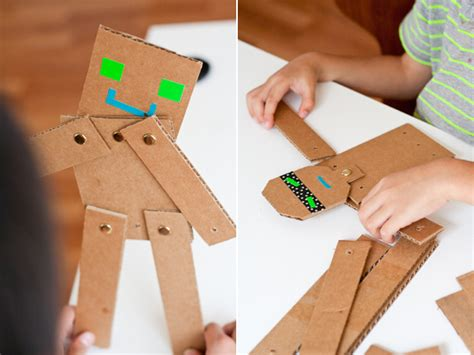 Cardboard Papercraft - robot activities and crafts for