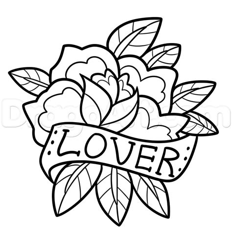 how to draw a tattoo rose how to draw a vintage step by step tattoos pop