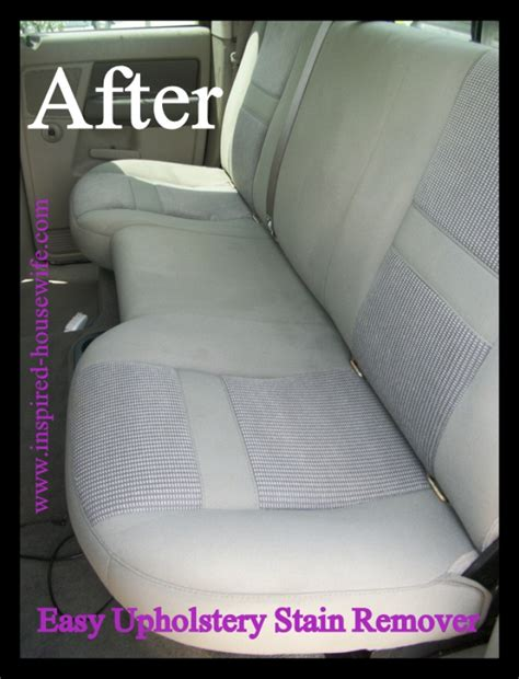 easy car upholstery stain remover recipe