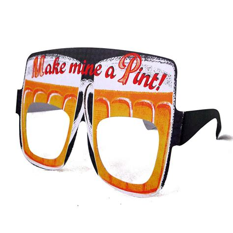 beer goggles mens birthday card glasses beer goggles by tandem green