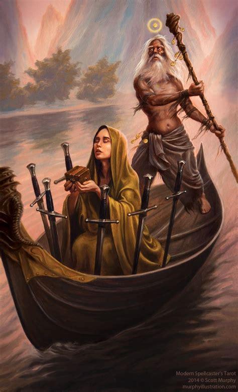 modern spellcasters tarot scott sketches the modern spellcaster s tarot judgement and six of swords tarot six of