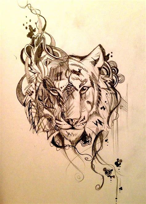pattern drawing tiger tiger drawing drawing pinterest