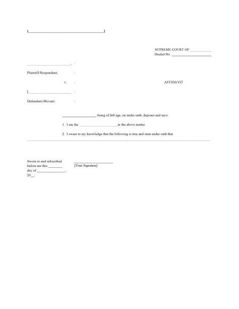 Blank Affidavit Template Form Affidavitforms Affidavit Form Pinterest Template Supreme Affidavit Template Pdf