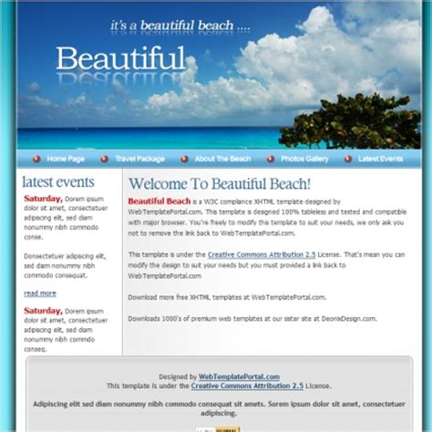 beautiful templates beautiful template free website templates in css