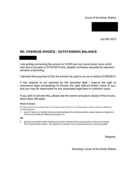 Invoice Update Letter Julian S Debt Contesting Experience Oppt Success Stories Stillness In The