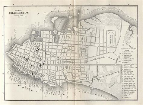 charleston historic district illustrated map books united states historical city maps perry casta 241 eda map