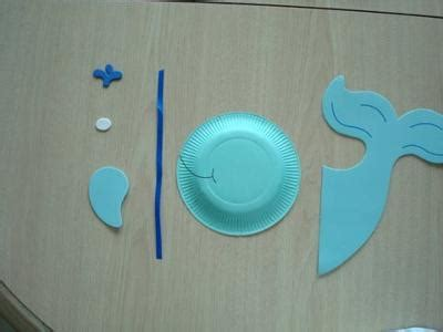 Whale Paper Plate Craft - how to whale paper plate craft project for