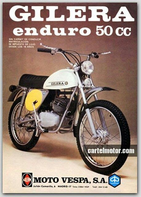 Gilera 50ccm Motorrad by Gilera 50 Enduro Gilera 50cc X 1970ies Pinterest