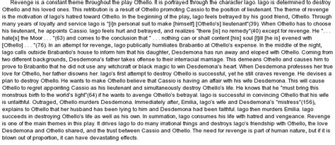 themes of revenge in othello othello essay topics jealousy