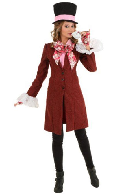 Deluxe Plus Size Women's Mad Hatter Costume 1X 2X Female Mad Hatter Costume