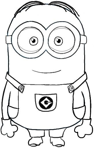minion coloring page clipart minion coloring pages dr odd