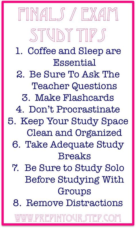 finals exam week study tips good to remember since i m headed back to for c s