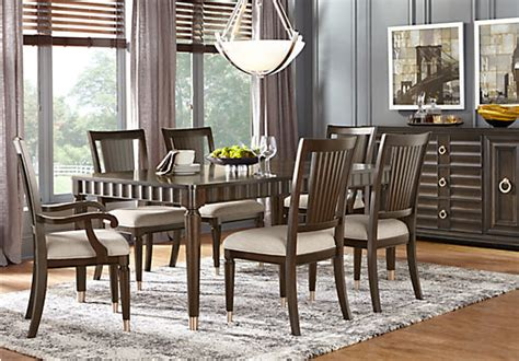 dining room furniture michigan cindy crawford home michigan avenue brown 7 pc rectangle
