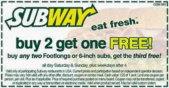 subway coupons printable canada 2016 subway coupons codes printable coupons online