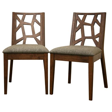 Rubber Wood Dining Chairs Baxton Studio Jenifer Modern Rubberwood Dining Chair Set Of 2 Medium Brown Home Furniture