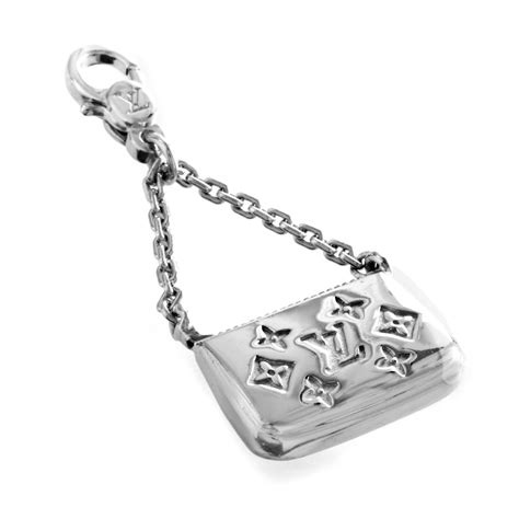 louis vuitton charm de monogram womens  white gold