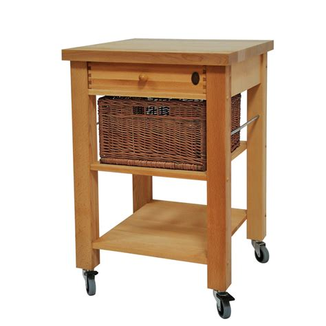 kitchen trolley eddingtons three drawer lambourn beech wooden kitchen