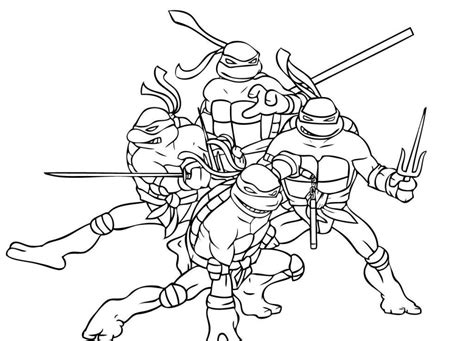 Ninja Turtles Coloring In Pages | ninja turtle coloring pages coloring home