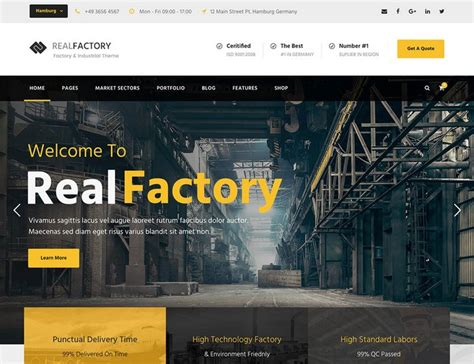 Industrial Theme 15 Fresh Best Industrial Business Wordpress Themes