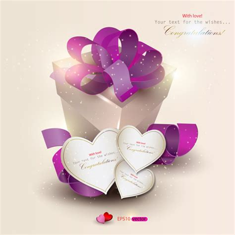 romantic gift cards free vector graphic download - Romantic Gift Cards
