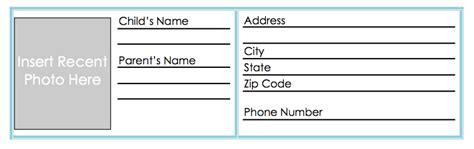 Id Card Template Screen Shot Diy Kids Id Cards You Can Put Their Name Your Name Printable Child Id Card Template