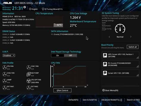 Asus Laptop Advanced Bios Settings asus prime z270 a bios software the asus prime z270 a gigabyte z270x ultra gaming