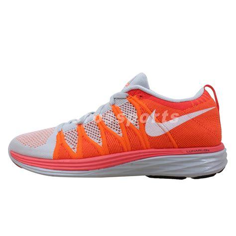 new nike flyknit running shoes nike flyknit lunar2 grey orange 2014 new mens running