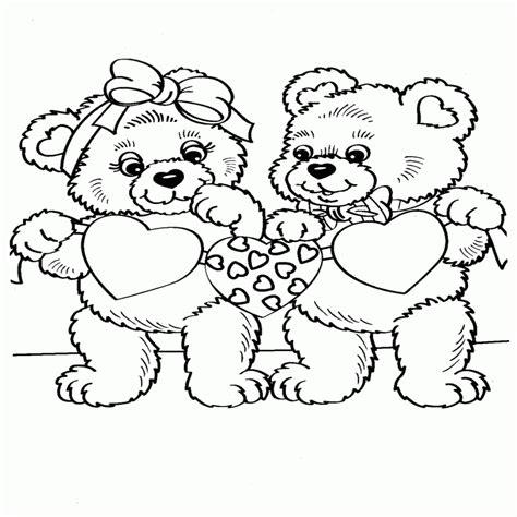 imagenes para colorear ositos dibujos de osos con corazones para colorear