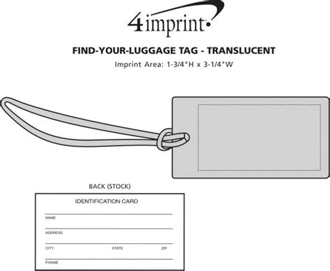 Find Your Tag Find Your Luggage Tag Translucent Item No 86017 T
