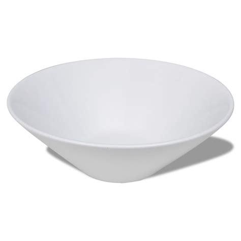 lavello porcellana lavello porcellana ceramica bacino bianco vidaxl it
