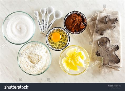 marble top baking table ingredients baking on white marble table stock photo