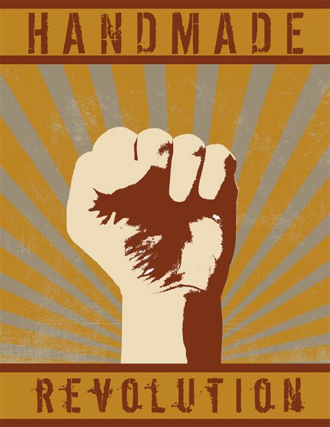 Handmade Posters - handmade revolution poster copy