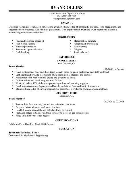 Objective For Restaurant Resume by Best 20 Resume Objective Exles Ideas On