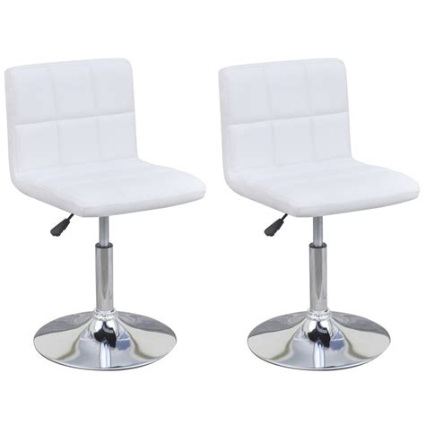 Adjustable Height Dining Chairs White 2 Height Adjustable Swivel Dining Chairs With Backrest White Lovdock
