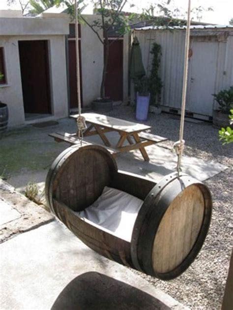 wine barrel swing barrel swing creative wine barrel ideas pinterest