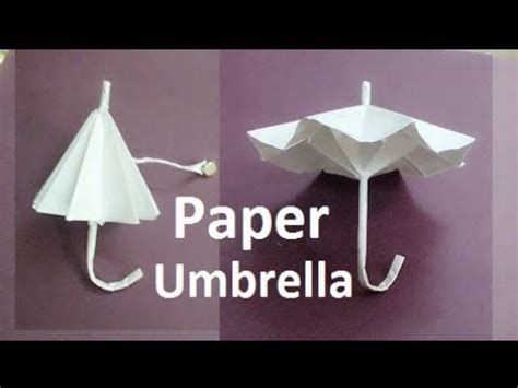 How To Make A Paper That Opens - origami umbrella how to make a paper umbrella that open