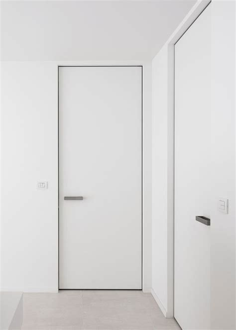 Invisible Closet Door Invisible Interior Doors Custom Made With A Invisible Aluminium Door Frame The Frame Is