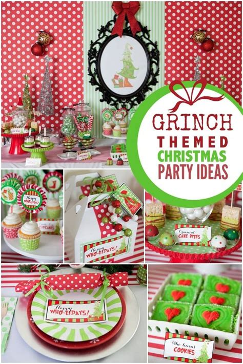 a grinch inspired christmas party grinch theme ideas