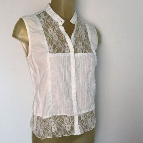 Express Pocket Trim Blouse T3010 1 shop lace button shirt on wanelo