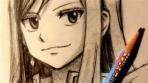 Drawing You Asmr by Asmr Pencil Drawing 57 Erza Request