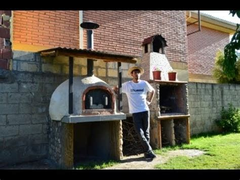 construccion horno de ladrillo  barro casero  wood oven building youtube