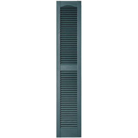 builders edge 12 in x 64 in louvered vinyl exterior