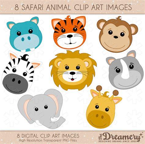 safari animals clip free baby safari clipart collection