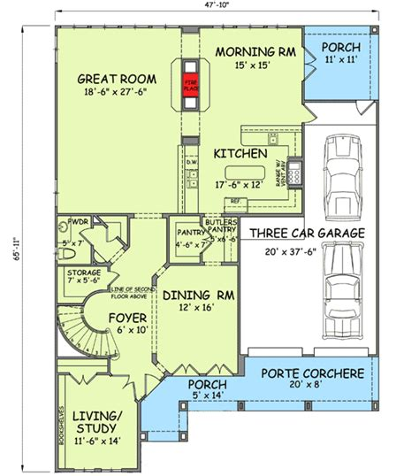 floor plans with secret rooms plan w54123bh narrow lot photo gallery european hill