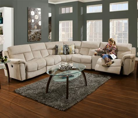 sectional sofa with consoles by franklin franklin stallion sectional sofa with console and 5 seats
