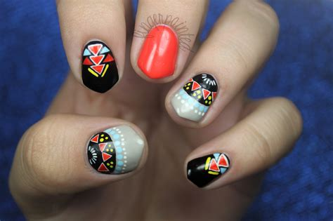 Nail Designs Tribal