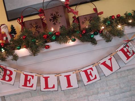 holiday decorations vintage inspired believe banner
